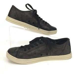 COACH Signature Parkway 7 B Fashion Sneakers Q6733